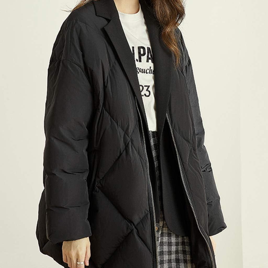 Down jacket Piumino con Colletto da Donna Piumino da Donna Inverno Caldo e Morbido Piumino da Donna Piumino da Donna Bianco XS/S/M/L Multi-Taglia L