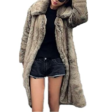 2215eb819e84 New Faux Fur Coat Overcoat Women Warm Fake Fox Fur Jacket Outwear Women  Long Coat Imitation