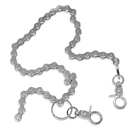 Amazon com: Silver Tone Bicycle Bike Chain Keychain For