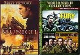 Germany War & Munich / Fury & Monuments Men Triple Feature DVD Bundle