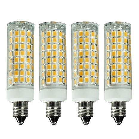 E11 Led Bulb Dimmable 7w 75w 100w Halogen Bulbs Equivalent Mini Candelabra Base Ac110v120v 130v 3000k Warm White For Chandeliers Ceiling Fan