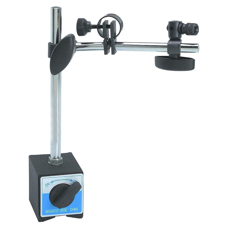 WonVon Deluxe Magnetic Base Holder,Universal 3D Magnetic Base Adjustable Metal Test Indicator Holder Level Stand for Dial Test Indicator