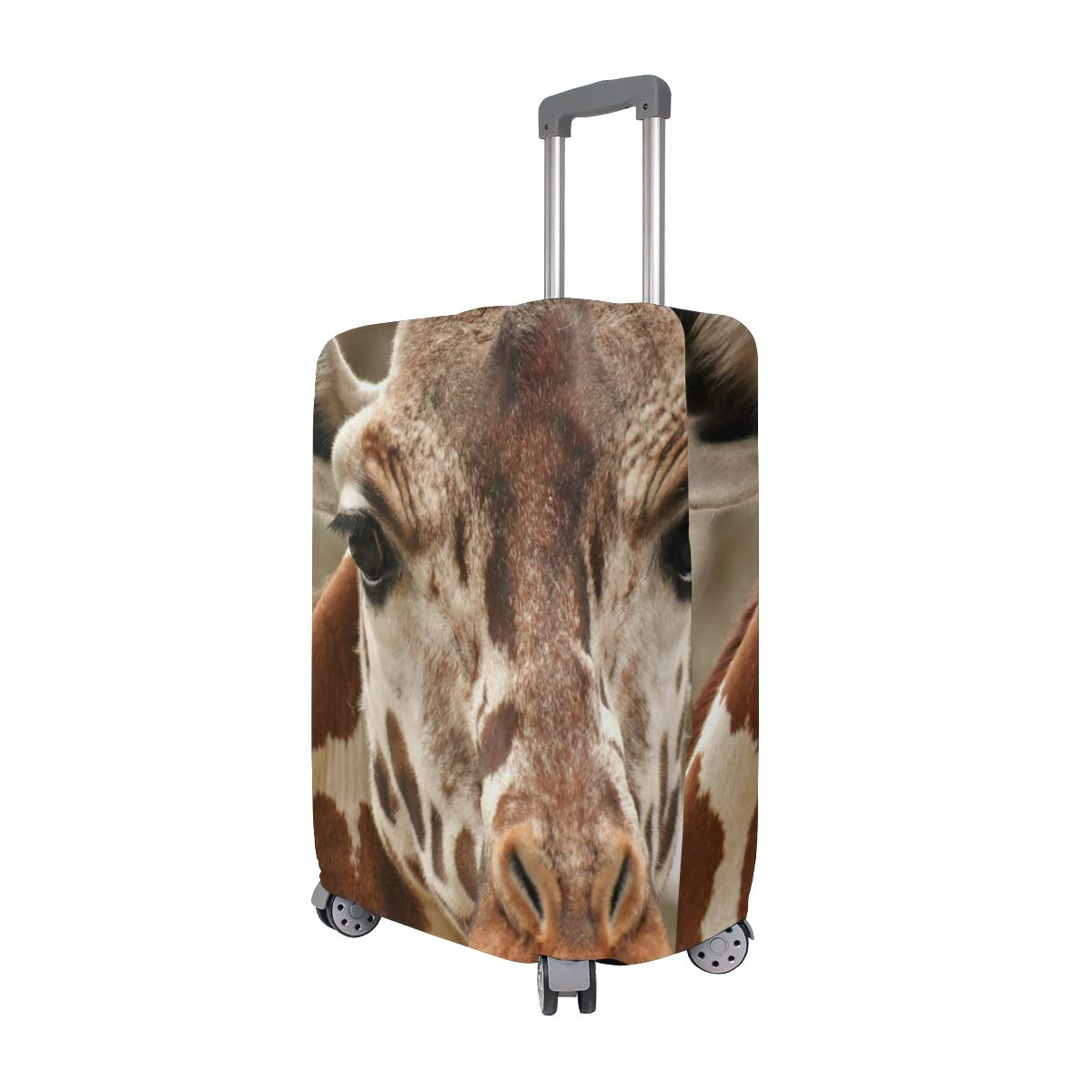 Baggage Covers Giraffe Head Animal Zoo Washable Protective Case