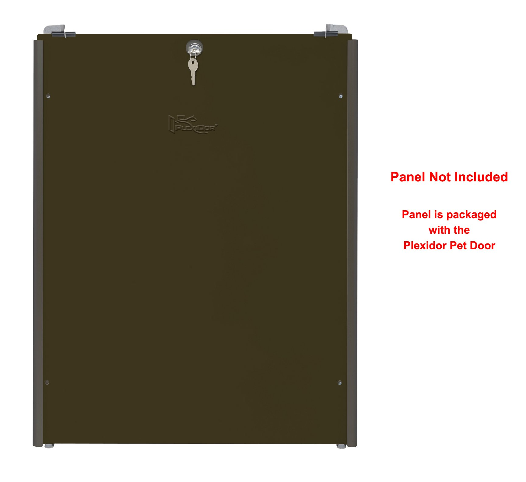 Plexidor Easy Slide Tracks for Security Panel that's Included with Extra Large Bronze Plexidor Pet Doors - Easy Mount, Easy Locking Security Panel Tracks