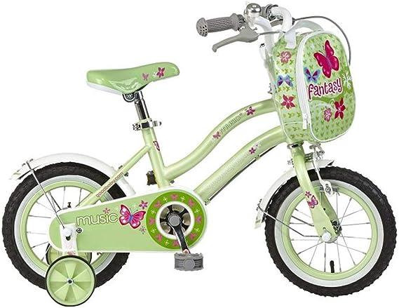 Bicicletas niña de 12 Pulgadas 3/4/6 años de Edad niño Deportes al Aire Libre Retro Montar en Cochecito (Color : Green, Size : 12in): Amazon.es: Hogar