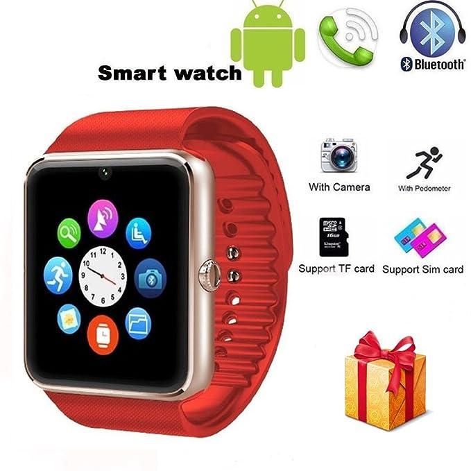 qimaoo inalámbrico Bluetooth Reloj Inteligente con Ranura ...