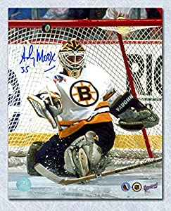 Autograph Authentic MOOA102020 Andy Moog Boston Bruins Autographed Stanley Cup Finals 8 x 10 in. Photo