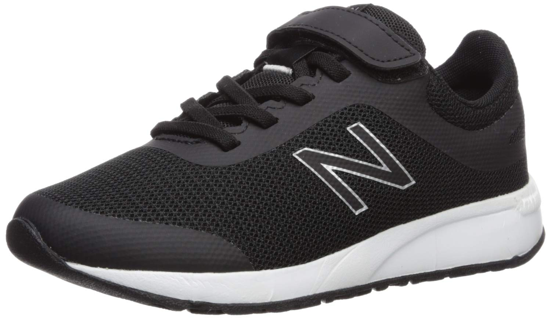 New Balance Boys' 455v2 Running Shoe, BLACK/WHITE, 5 M US Big Kid