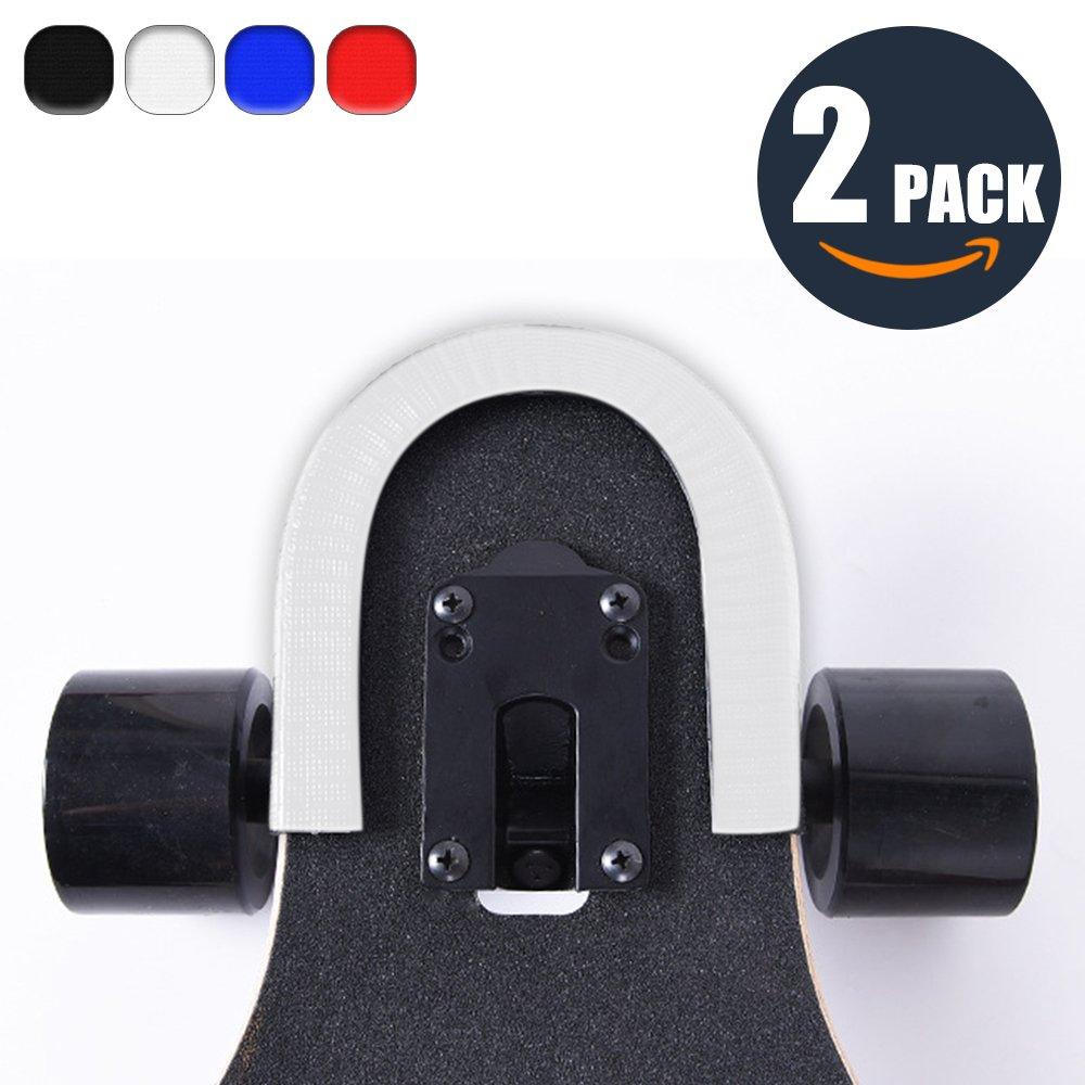 MAXPRO Guards for Longboard Deck Edge, Rubber Seal Protector Guard Strip Fit Most Skateboard & Longboard - White