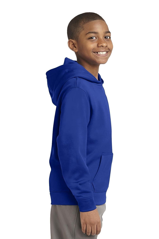 Sport-Tek Boys Sport Wick Fleece Hooded Pullover