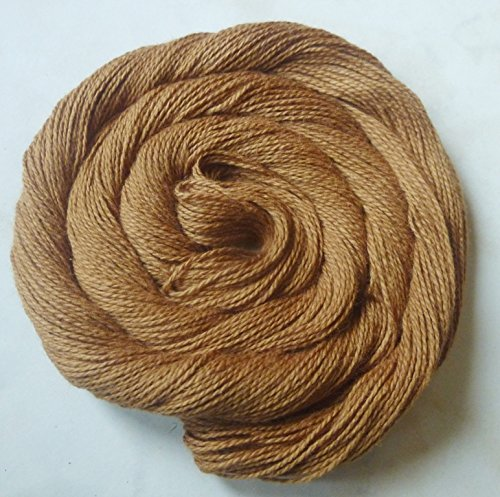FOUR PACK Cinnamon Brown Cotton Fingering Lace Weight Knitting Crochet (Alpaca Mohair Yarn)