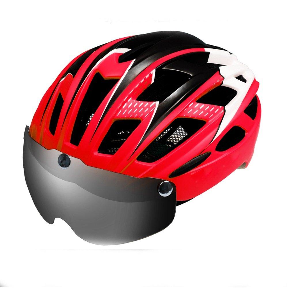 Fahrradhelm Männer und Frauen Mountainbike Helm mit Schutzbrillen ultra leichte Belüftung