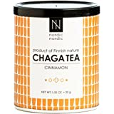 NordicNordic Chaga Mushroom Tea, Powerful Antioxidant, Natural, Vegan, Paleo, 20 Bleach-Free Tea Bags (Cinnamon Flavor)