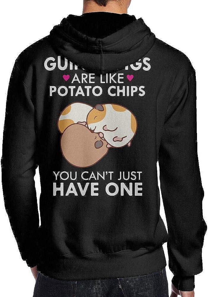 BB/&YYY Guinea Pigs are Like Potato Chips Mens Pullover Hoodie Sweatshirt Back Print Hoodies