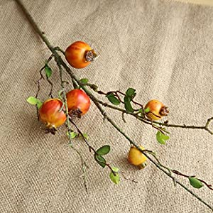 TiTCool Artificial Fake Flowers Pomegranate Dried Bunch NEW Wedding Bouquet Outdoor Party Home Decor (ORANGE) 120