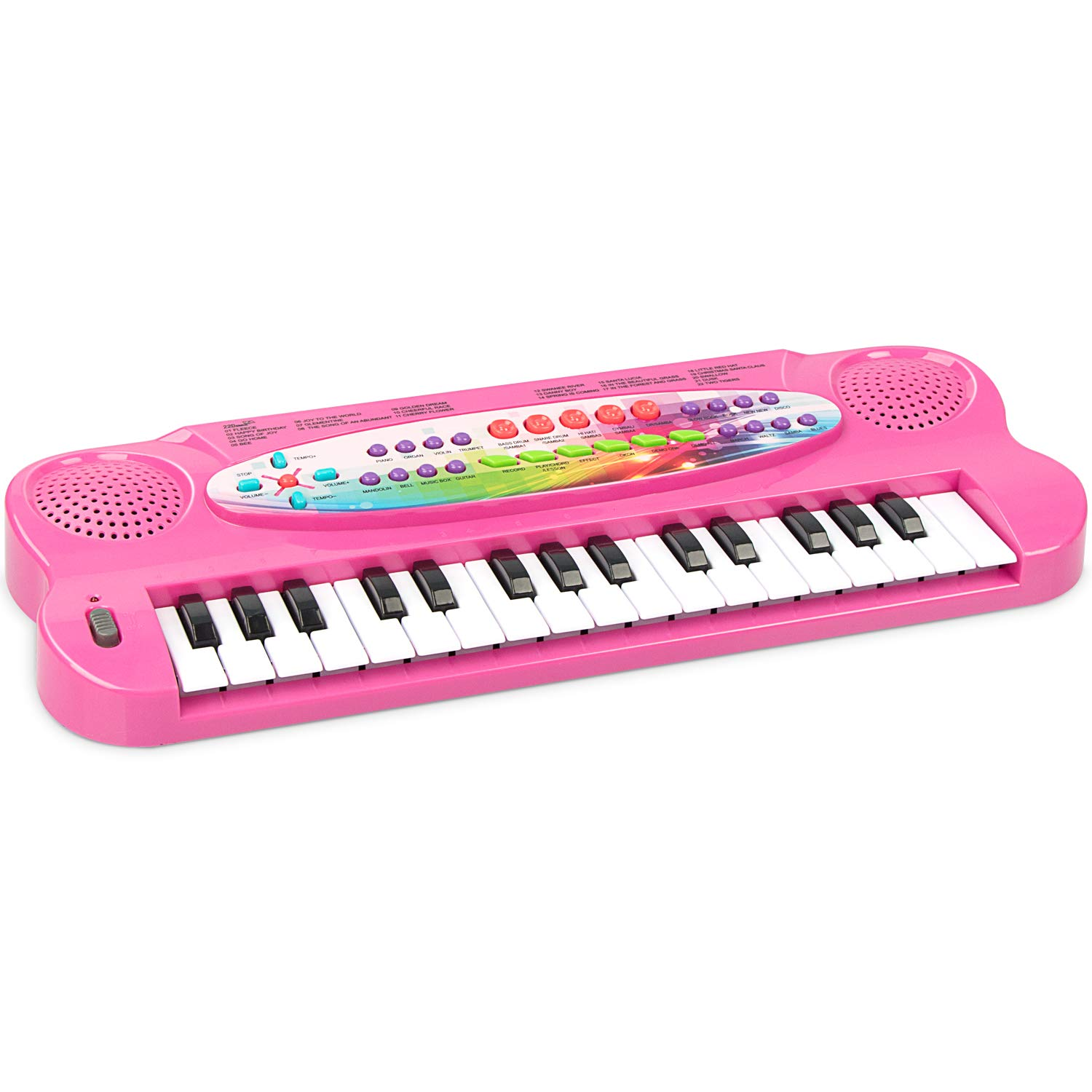 aPerfectLife Kids Piano, 32 Keys Multifunction Electronic Kids Piano Keyboard Musial Instrument for Kids with Microphone (Pink)