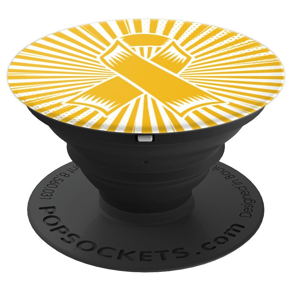 Neuroblastoma Awareness Gifts- Neuroblastoma Ribbon - PopSockets Grip and Stand for Phones and Tablets by Neuroblastoma Phone Accessories