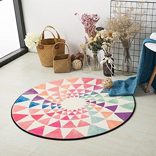 CAICOLORFUL Tappeto circolare morbido e confortevole antiscivolo traspirante (taglia scelta multipla) tappeto interno ( dimensioni : 100cm )