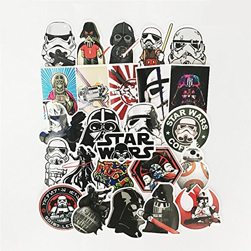 CJB Star Wars Skateboard Vinyl Stickers]()