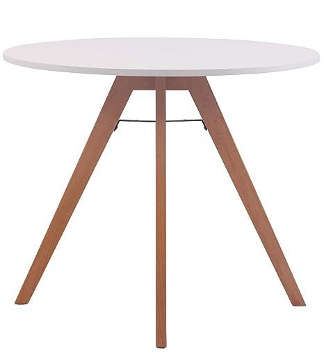 Mesa redonda blanca Viktor