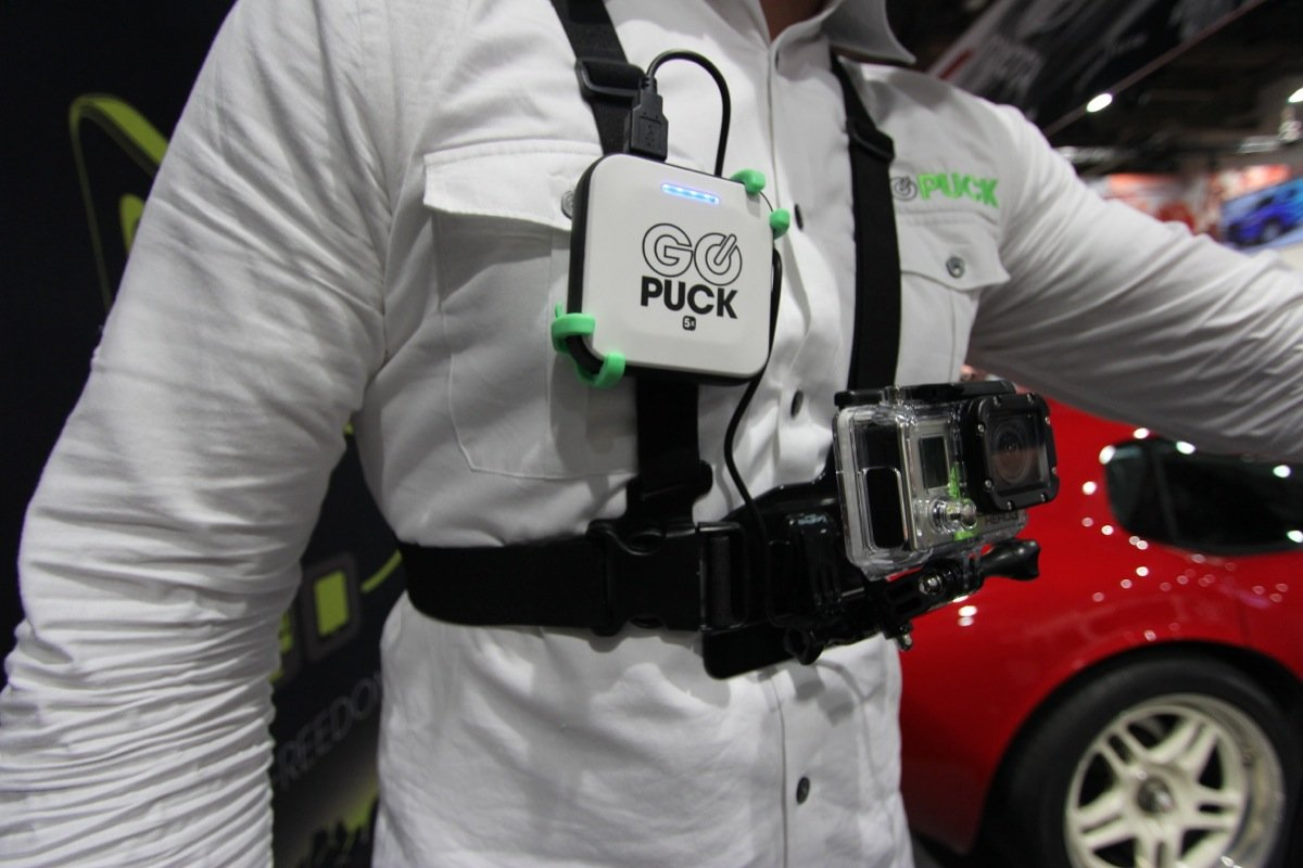 GO PUCK Active Mounts for Portable Battery Chargers-Wearable Power
