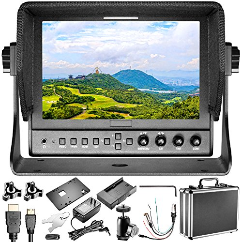 Neewer 663/S2 Field Monitor 3G-SDI and HDMI Input/Output, 7 inches, 800:1 Contrast, 1280x800 IPS, Work with F550 or LP-E6 Battery for DSLR Video Cameras Like Canon 5D3, Nikon D500, Sony A7II and More by Neewer