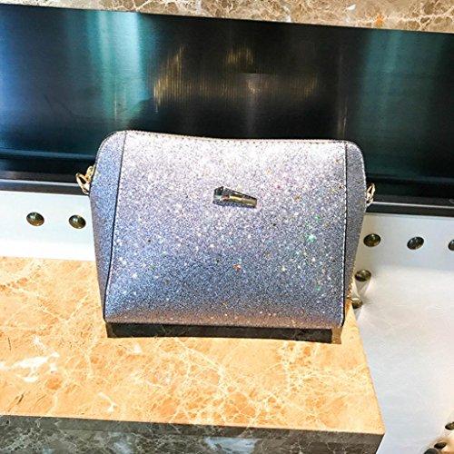 a moda Borsa puro Borsa di Argento femminile paillettes colore donna tracolla a per con borse tracolla LQQSTORE a spalla Ia1qxaXF