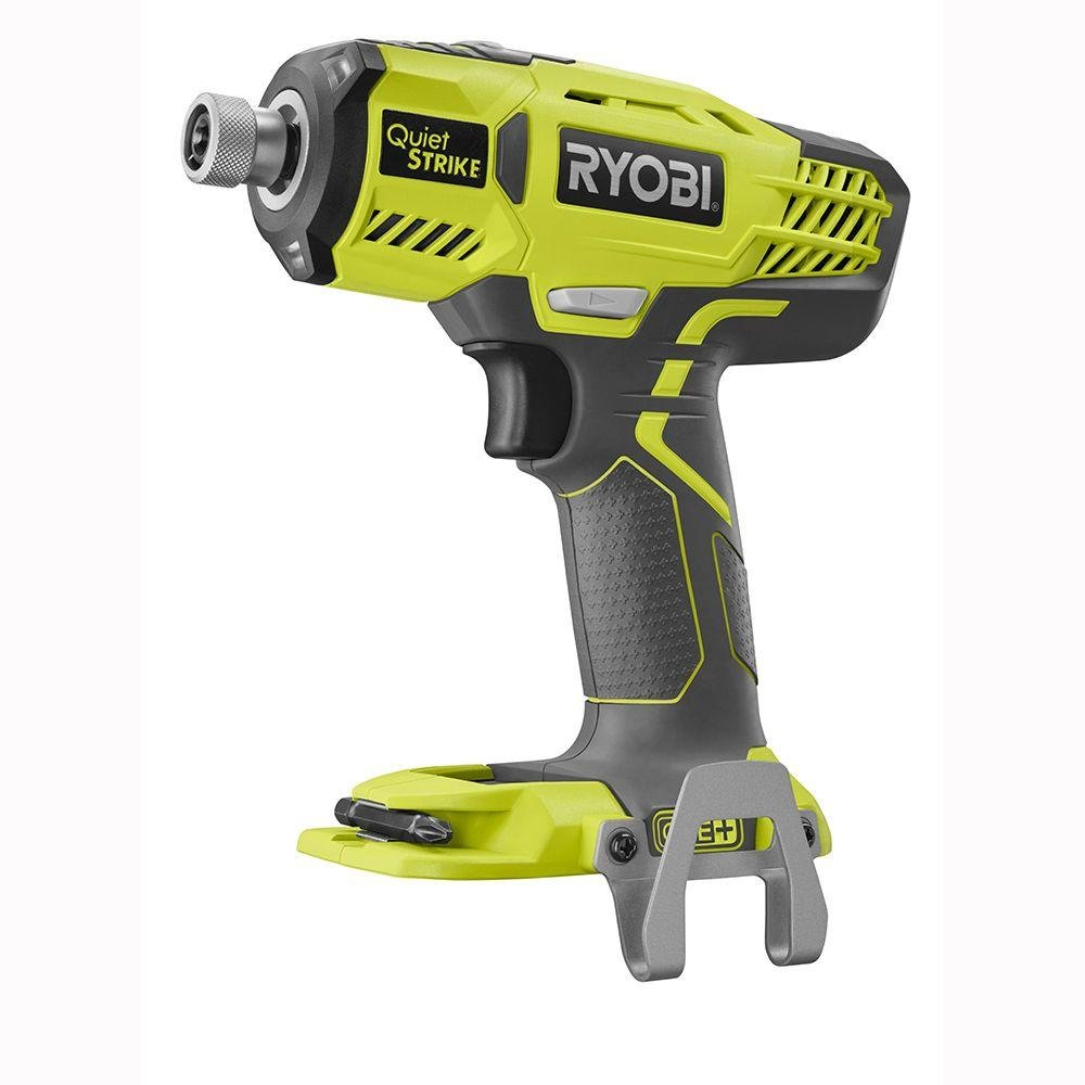 Ryobi P290 One 18V 1 4 Cordless Quiet Strike 3,200 RPM Impact Driver with Quick Change Chuck and Mag Tray Batteries Not Included, Power Tool Only