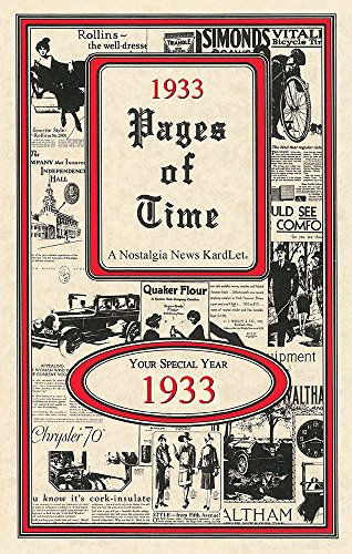 Seek Publishing 1933 Pages of Time Kardlet (PT1933)