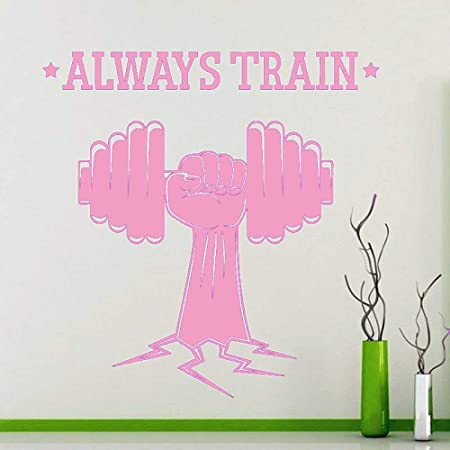 zqyjhkou Always Train Quote Fitness Sports Gym Tatuajes de Pared ...