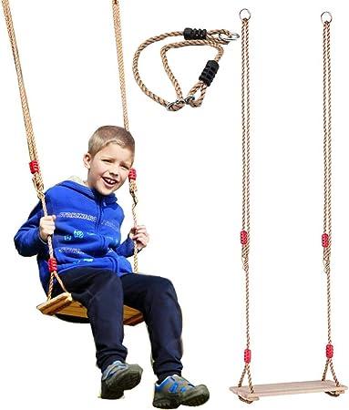 iBàste Kid - Asiento balancín para niños, Silla Mecedora Colgante para Parque de Juegos, Interior, Exterior, jardín, Carga máxima 80 kg: Amazon.es: Hogar