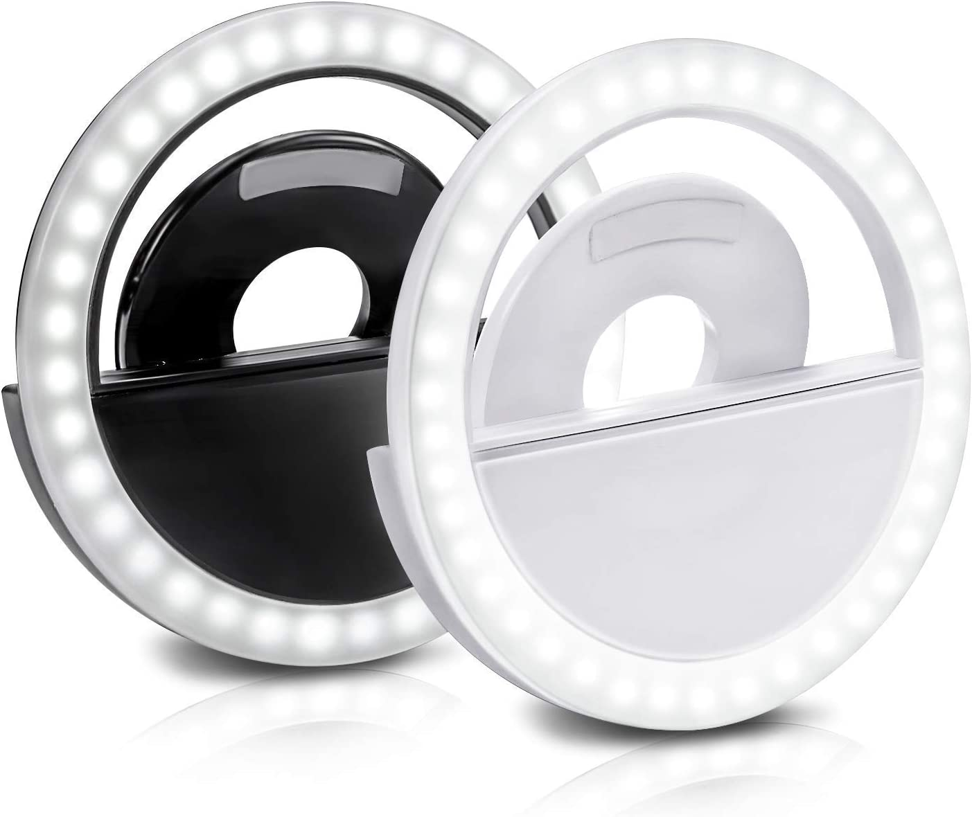 Selfie Ring Light 2 Omaha Mall Pack Modes Rechargeable Clip-on Quality inspection Cel 3