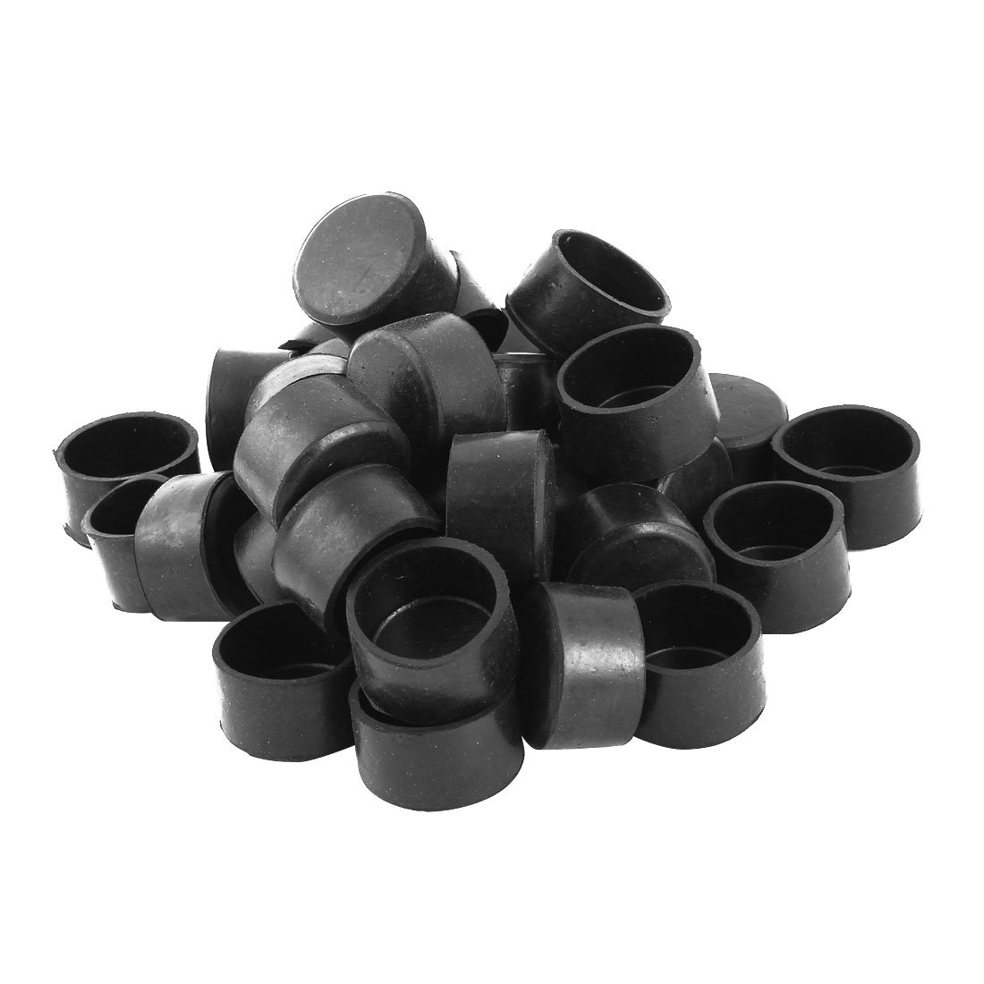 uxcell 36pcs 1 1/2'' 38mm Round Rubber Chair Leg Caps Furniture Table Foot Cover Pads Prevent Scratches Wood Floor Protector