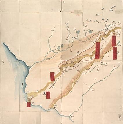 Amazon.com: Historic Map 1875 map Tongwaxiang zhi hai kou ...