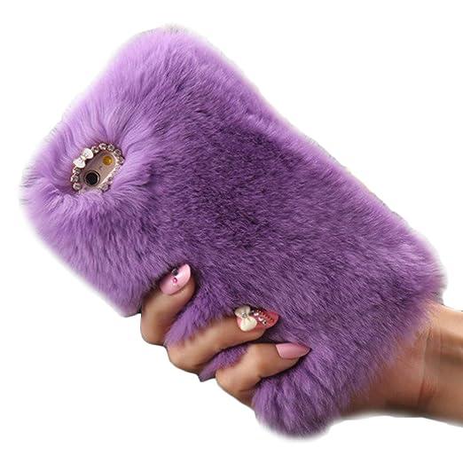 4 opinioni per per iPhone 6 plus / 6S plus 5,5 inch Koly® calde soffici villi eco-pelliccia