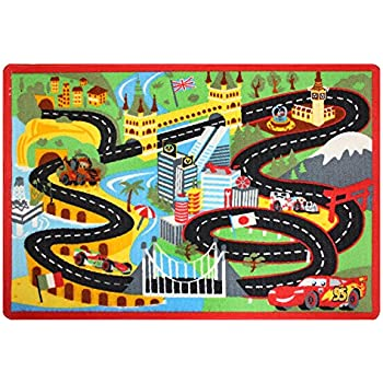 disney cars rug nitro edition toy w lightning and mater cars 2 toys kids game