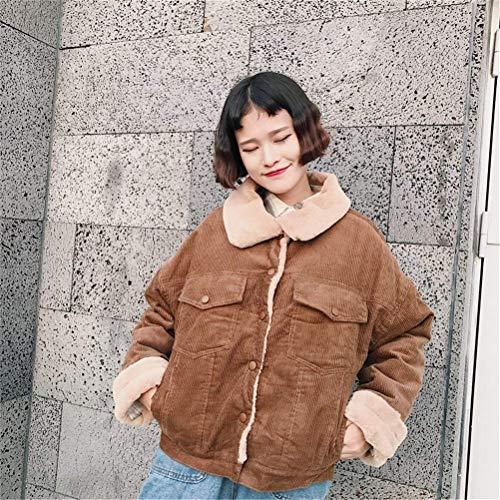 De Khaki Outerwear Fashion Mujeres Solapa Outdoor Cazadoras Espesar Mujer Manga Anchos Battercake Chaquetas Invierno Parkas Larga Vintage Caliente Elegantes Casuales xH7waP0z