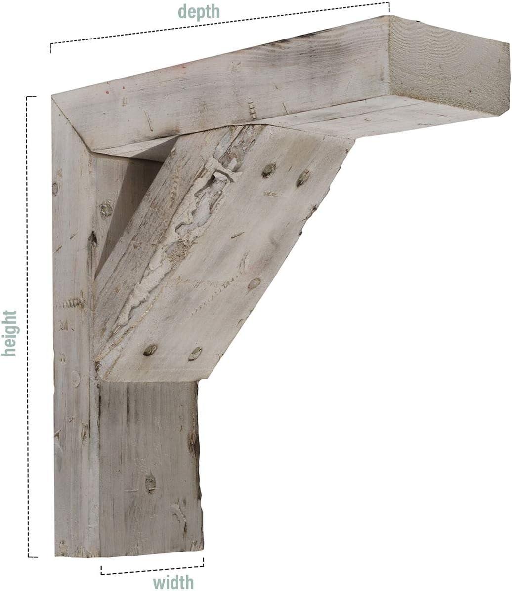Pebble Grey 3 1//2W x 10D x 12H Ekena Millwork BKTB03X10X12TRPG Wood Bracket