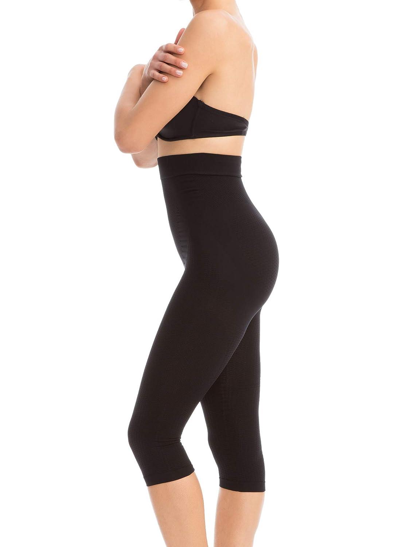 195036d962204e FarmaCell 323 Women's Compression Anti-Cellulite Shapewear Capri Leggings  at Amazon Women's Clothing store: