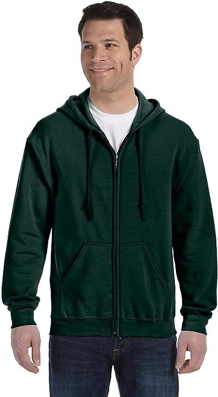-IRISH GREE -2XL-12PK Heavy Blend? 50//50 Full-Zip Hood Gildan Mens 7.75 oz G186