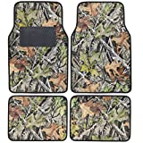 BDK Camo Floor Mats - 4 Piece Full Set for Car Truck Van Rubber Backing All Weather Heavy Duty Protection