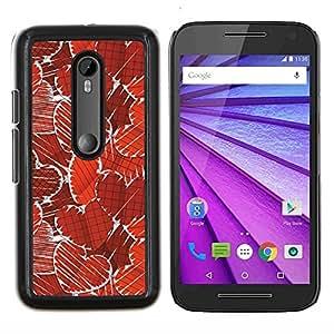 """Be-Star Único Patrón Plástico Duro Fundas Cover Cubre Hard Case Cover Para Motorola Moto G (3rd gen) / G3 ( Corazones rojo del papel pintado del arte del amor romántico"""" )"""