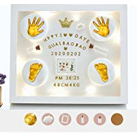 Baby Handprints and Footprints Jewelry Souvenir Set Baby Handprint Kit and Footprint Photo Frame Clay Kit 3D Baby…