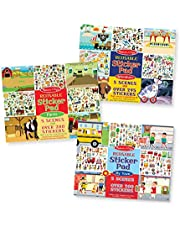 Melissa & Doug Reusable Sticker Pad 3 Pack My Town, Farm, Adventure, Multicolor