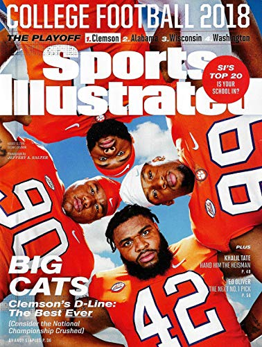 Sports Illustrated Magazine (August 13, 2018) College Football 2018 Big Cats Clemson's D Line (College Football 2018)