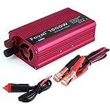 EECOO Power Inverter 1500W, Vehicle Inverter DC 12V a AC 110V con 2 AC Enchufes y un Puerto USB de 2.1A (Potencia Máxima de 1500W) para Computadoras Portátiles, Teléfonos, Aparatos de Emergencia