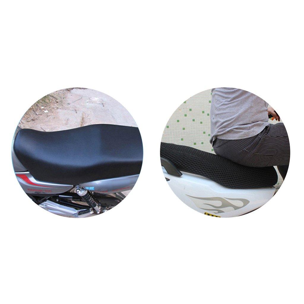 Baoblaze 1 St/ück 3d Motorrad Sitzpolsterbezug Braun Regenschutz Sitzbez/üge UV Schutz Motorrad Roller Anti-Rutsch Sitzfl/äche M