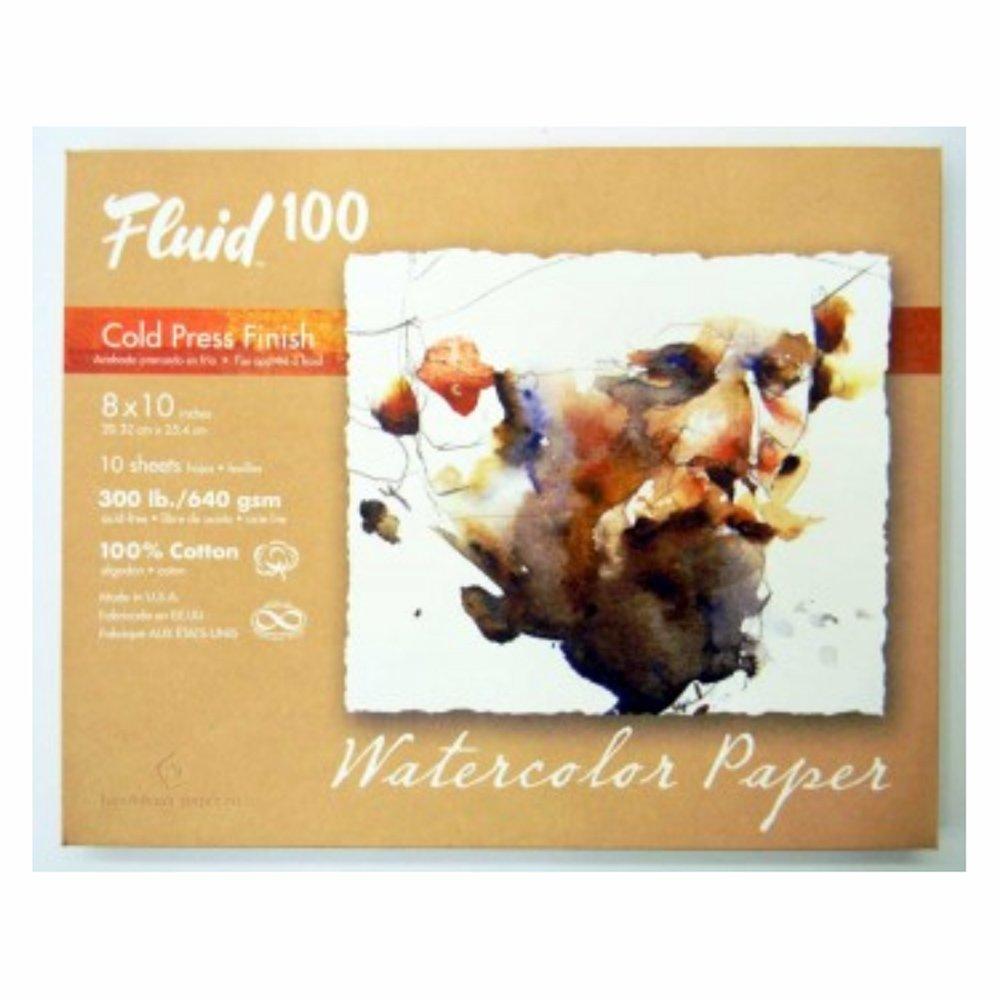 Fluid 100 Watercolor Cp 300Lb Pochette 8X10 GLOBAL ART MATERIAL 4336943563