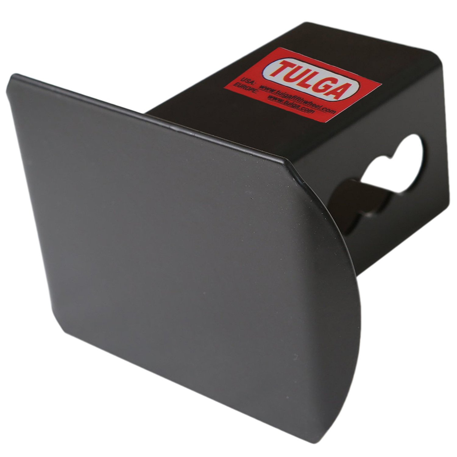 Tulga Fifth Wheel Co Steel Hitch Cover Black Matte Blank Tube Metal Trailer Towing Hitch Cover for 2'' Receivers by Tulga Fifth Wheel Co