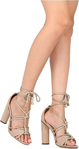 Alrisco Women Faux Suede Knotted Ankle